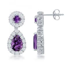 white topaz earrings sterling silver amethyst white topaz earrings the mecca of