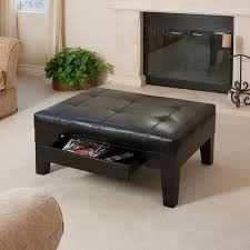 chatham black bonded leather storage ottoman by christopher knight