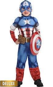 Captain America Halloween Costume Kids Toddler Boys Superhero Costumes Party