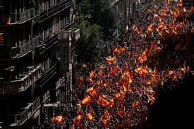 New York 6 Flags I Am Spanish U0027 Thousands In Barcelona Protest A Push For