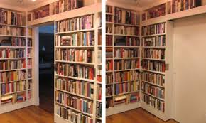 a secret passage or a hidden room these books and the shelves do