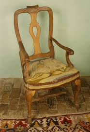 French Provincial Armchair French Provincial Armchair With Canvas Work Seat Designed By