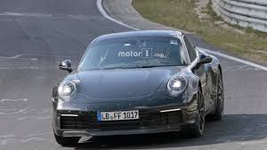 new porsche 2019 2019 porsche 911 spied is it a hybrid