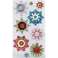 christmas stickers jolee s christmas stickers embellished snowflakes joann