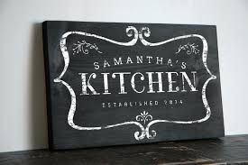 personalized kitchen sign for home and wall decor makes an