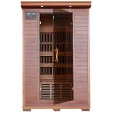 sauna glass doors radiant sauna 1 to 2 person hemlock infrared sauna with 4 carbon