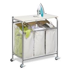 Laundry Room Cart - decor u0026 tips inspiring rolling laundry cart with divider hampers