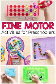 favorite motor activities for preschoolers