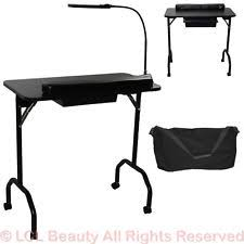 manicure nail table station portable white manicure nail table station beauty spa salon