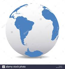 Map Icon South America Map Icon Of The World Globe Earth Stock Photo