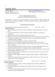 Staffing Recruiter Resume 1 Early Childhood Director Resume 2014