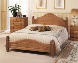 airsprung carolina 4ft6 double low footend cinnamon wooden bed