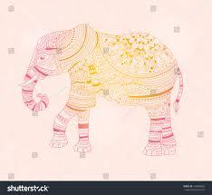 elephant zentangle style hand drawn vector stock vector 472696882
