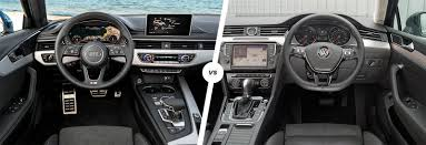 volkswagen passat 2017 interior audi a4 avant vs vw passat estate comparison carwow