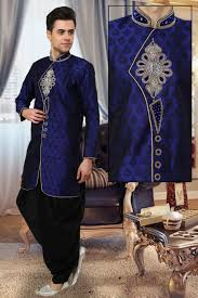 buy wedding indo western sherwani online uk blue indo western