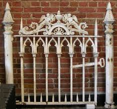 antique architectural salvage cast iron garden fence 50