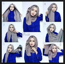 tutorial hijab paris ke pesta contoh model fashion hijab terbaru tutorial style hijab