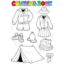 camping equipment coloring pages supplies free land camping