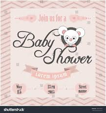 baby shower invitation stock vector 180972335 shutterstock
