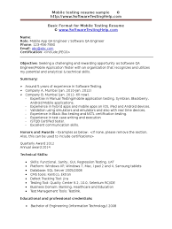 Best Qtp Resume by Mobile Testing Sample Resume Free Resume Example And Writing