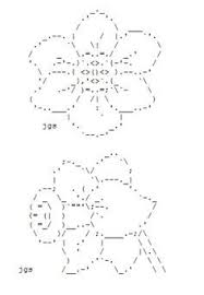Ascii Art Flowers - daffodil day canadian cancer society have an ascii art daffodil