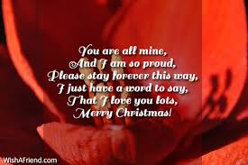 you are all mine and i message for husband