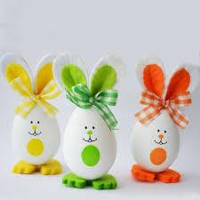easter eggs decoration diy 3pcs set rabbit bunny style crafts easter eggs decoration