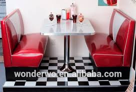 retro furniture diner booth hollywood two seater set restaurant