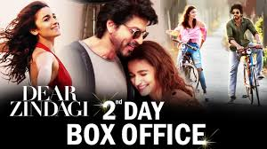 2nd day shahrukh alia s dear zindagi 2nd day box office collection