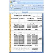 Free Bank Statement Template Excel Use A Microsoft Excel Reconciliation Template To Help Your Finances