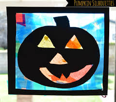 pumpkin crafts for kids jack o lanterns silhouettes kids play box