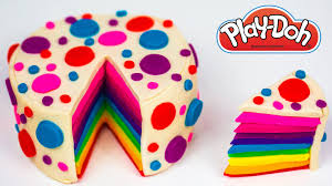 play doh cake rainbow cake how to make rainbow play doh cake play