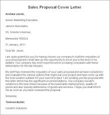 sample sales proposal cover letter sales proposal cover letter