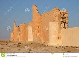 syrian desert castle of qasr al hayr al sharqi stock image image 40136457
