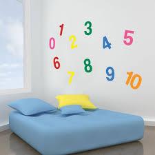 stickers chambre d enfant a08 concept chambre d enfants de stickers muraux chiffres en