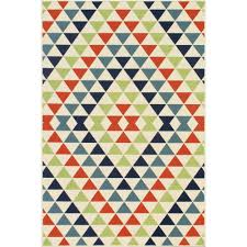 Outdoor Rug Square by Shop Baja Multi Color Triangles Outdoor Rug 6ft 7in X 9ft 6in