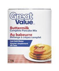 Pancake Flour Great Value Buttermilk Complete Pancake Mix Walmart Canada