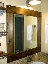 Wood Bathroom Mirror by Homemade Wood Framed Bathroom Mirrors Home