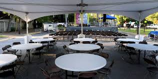 Round Tables For Rent by At Once Party Rental