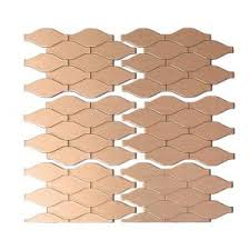 Home Depot Decorative Tile Aspect Wavelength Matted 6 In X 4 In Metal Decorative Tile