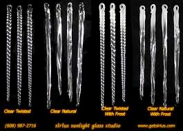 glass icicles clear mixed styles sirius sunlight glass studio