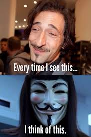 Adrien Brody Meme - i cant look at adrien brody the same again meme guy