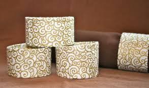 diy toilet paper roll napkin rings the bright ideas