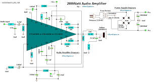 schematic wiring diagram schematic audio lifier circuit 200w