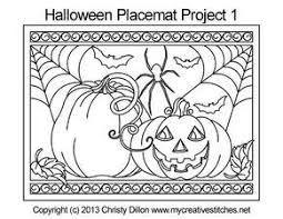 computerized quilting pattern halloween placemat project 3