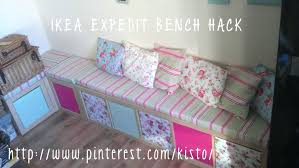 bench seat made from ikea expedit box cubes indoor bench seat