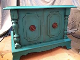 sold florence color end table annie sloan chalk paint teal