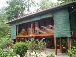 ho chi minh stilt house in hanoi vietnam