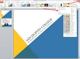 powerpoint design colors applying and modifying themes in powerpoint 2010 information
