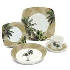 mainstays palm villa 16 dinnerware set walmart
